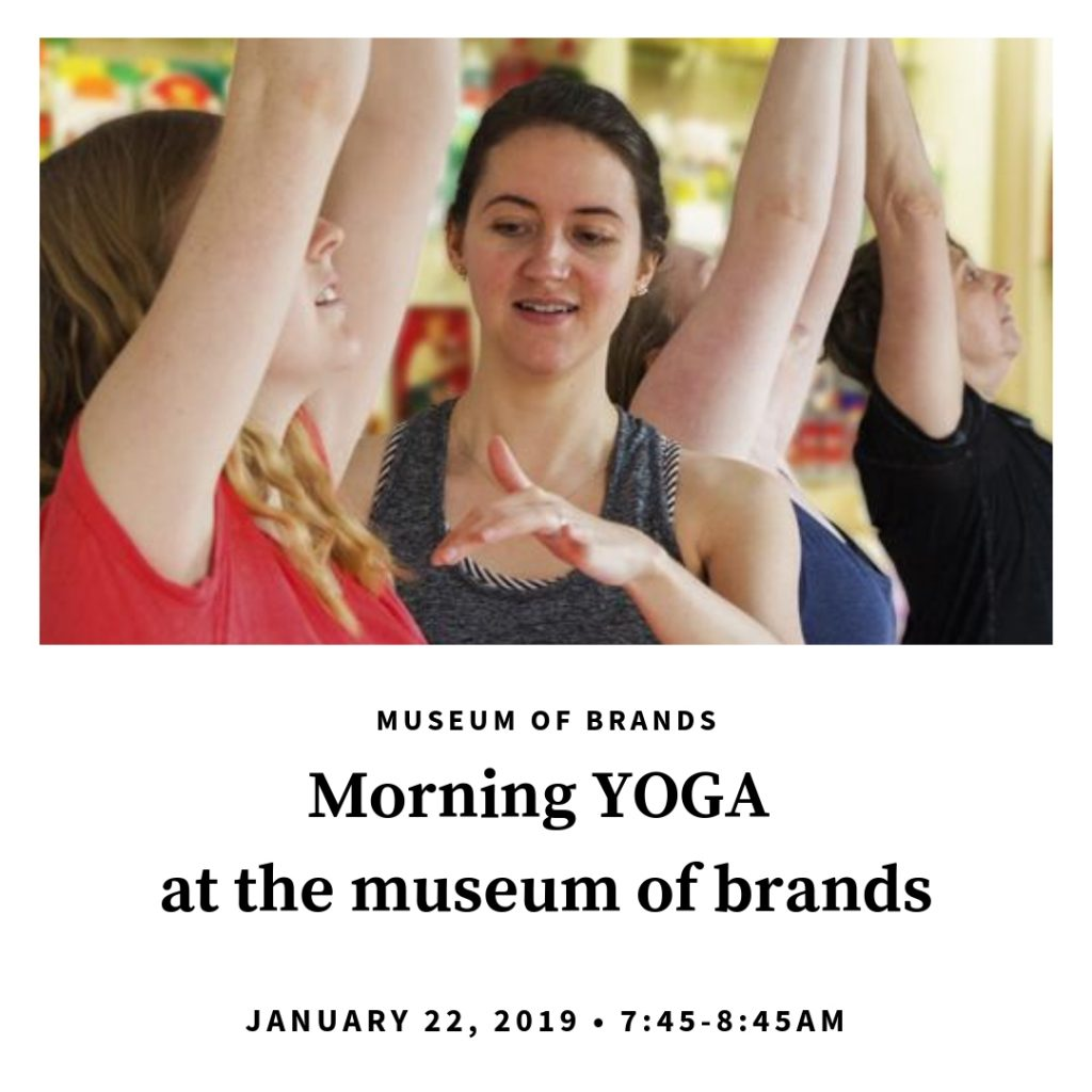 Yoga at the museum of brands